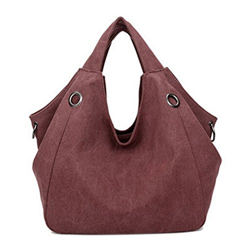 Women's Body Casual Bags Tote Bags DATO Top Women Bags Hobos Cross for Canvas Fashion Handbags wine Red Shoulder Multifunction Handle 4wAf7q