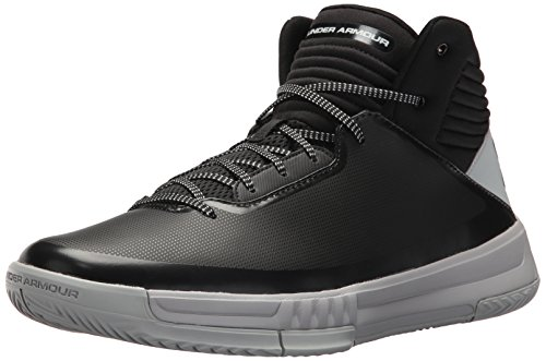 Under Armour Men's Lockdown 2 Basketball Shoe Black (003)/Overcast Gray 7
