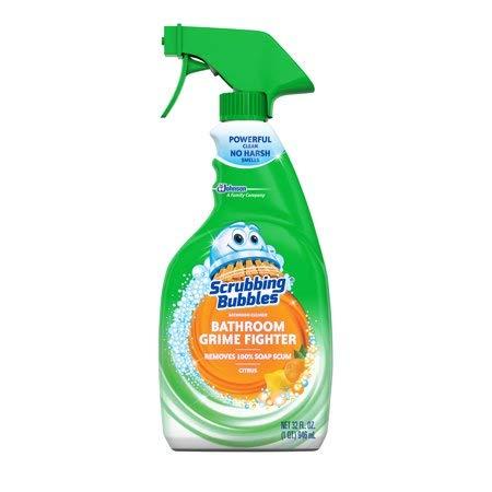 (Scrubbing Bubbles Bathroom Grime Fighter Spray, Citrus, 32 Ounces)