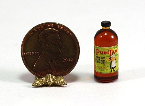 *hudson River Miniatures Dollhouse Miniature Bottle of Vintage Malt Sugar Syrup