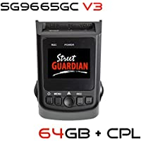 Street Guardian SG9665GC v3 2017 edition + 64GB microSD Card + CPL + USB/OTG Android Card Reader + GPS, Supercapacitor Sony Exmor IMX322 WDR CMOS Sensor DashCam 1080P 30FPS (Best Of - DashCamTalk)