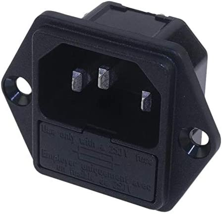 10 A Panel Mount 250 VAC 6200.2200 Plug Quick Connect, 6200 Series Power Entry Connector Pack of 10
