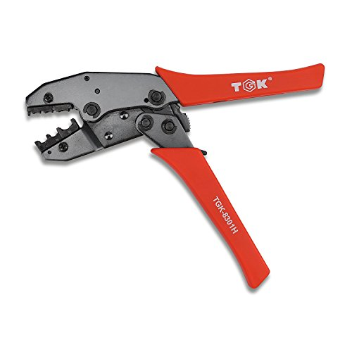 Wire Crimper Profession Pin Compression Ratcheting Insulated Terminal Connectors Crimper Crimping Tool 22-10 AWG