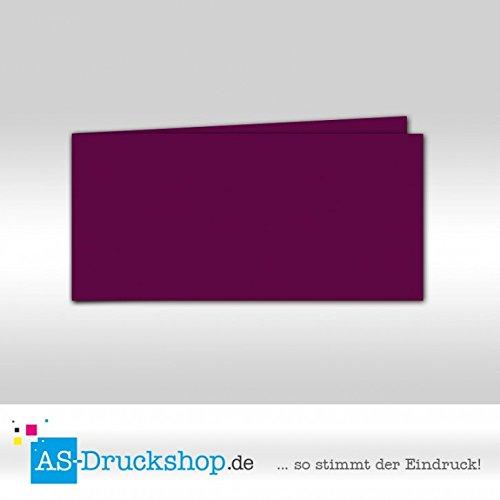 Faltkarte - Purpur - Samt satiniert 50 Stück DIN Lang quer B079PZWGCG | Outlet Online Store