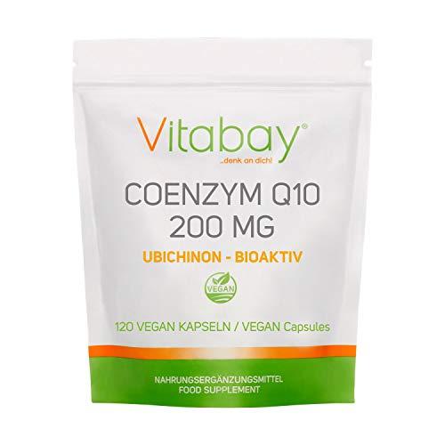 Coenzym Q10 Ubichinon 200mg - 120 vegane Kapseln - hochdosiert - Energie, Ausdauer, verjüngte Haut