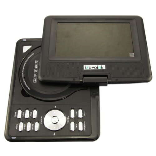 270 degree Swivel Portable DVD Player LCD Screen Display Game USB TV SD SWIVEL & Flip VAG CD VCD MP3 MP4 USB Home Theater by Bravolink (9.5 inch (969))