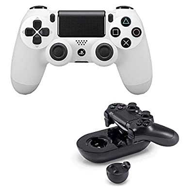 Sony White Dualshock 4 Wireless Controller with Sony Charge Station PS4 by PS4
