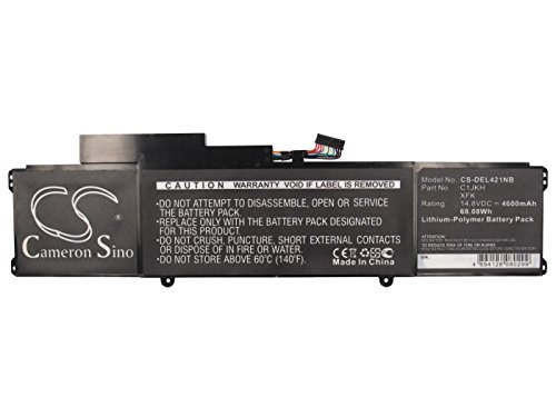 Cameron Sino 4600mAh / 68.08Wh Li-Polymer High-Capacity Replacement Batteries for DELL XPS L421x , fits DELL 4RXFK, C1JKH by Cameron Sino