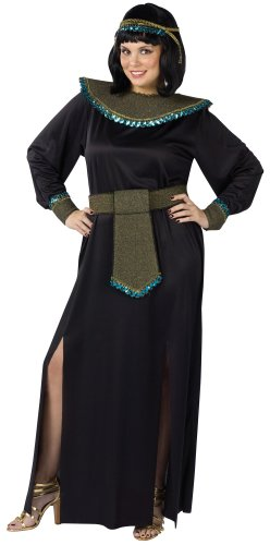 Black/gold Cleopatra Adult Plus Costume (Egyptian Women Costume)