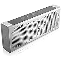 [DalTech] Aluminum Design Bluetooth v4.0 Portable Wireless speaker 10W 45mm Dual Drivers Output Power with Enhanced Bass build in Microphone for handfree phone call (Gray)