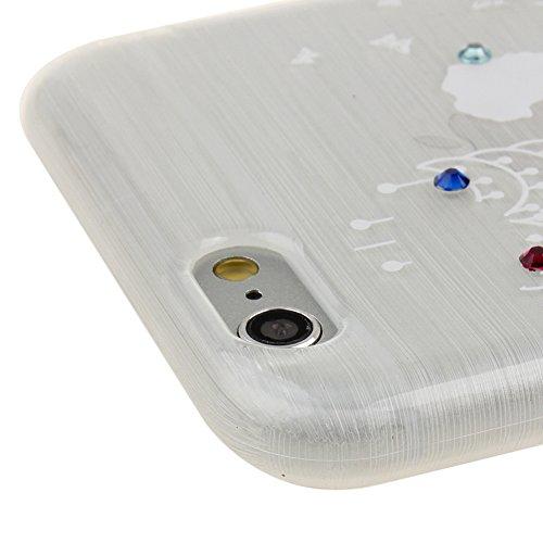 Funda para iPhone 6 Plus / 6s Plus, funda de silicona transparente para iPhone 6 Plus / 6s Plus, iPhone 6 Plus / 6s Plus Case Cover Skin Shell Carcasa Funda, Ukayfe caso de la cubierta de la caja prot Azul