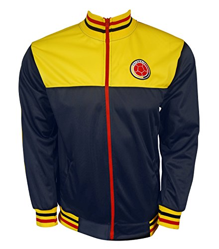 Rass Sport Copa America Centenario Soccer Track Jacket(Colombia Blue, Large/X-Large)