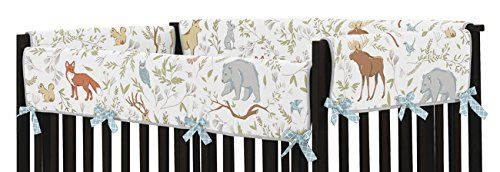 Sweet Jojo Designs Baby Crib Long Rail Guard Wrap Cover Teething Protector for Woodland Animal Toile Girl or Boy Bedding Collection by Sweet Jojo Designs (Image #2)