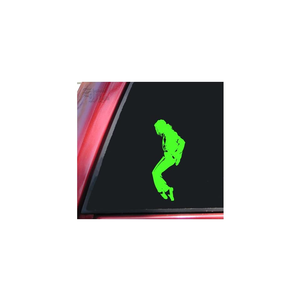 Michael Jackson Silhouette Vinyl Decal Sticker   Lime Green