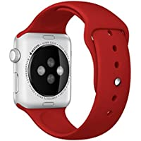 For Apple Watch Band,Voberry® Soft Silicone Sport Style Replacement Band for...