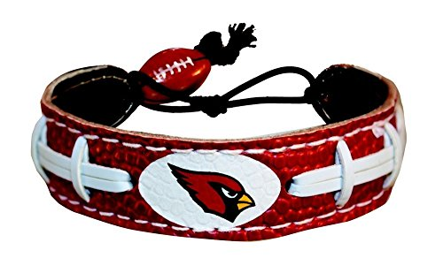 Bracelet Gamewear (NFL Arizona Cardinals Team Color Gamewear Leather Football Bracelet)