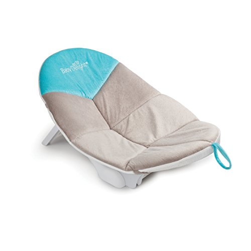 Baby Delight Cushy Nest Cloud Infant Bather | Teal/Grey | Support & Comfort for Bathing | Fits in Most Sinks and Tubs| Machine Washable Cushion