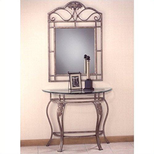 Hillsdale Bordeaux Console Table (Half Moon Top Glass)