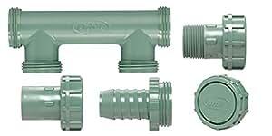 """Órbita 2puertos válvula de riego colector Bundle para tubo de 1""""Poly sistemas"""