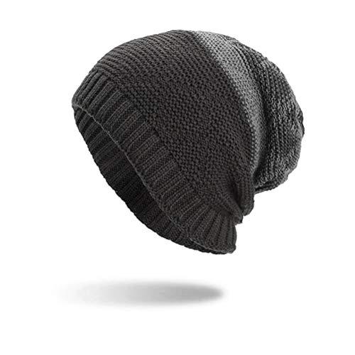 Mop Native (Tpingfe Women Men Warm Baggy Weave Crochet Winter Wool Knit Ski Beanie Skull Caps Hat (Gray))