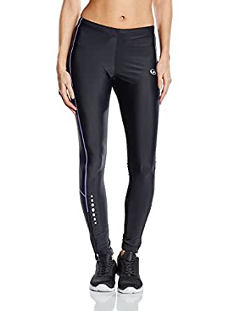 Ultrasport 10131 - Pantalones largos para mujer, color negro / morado, talla XS