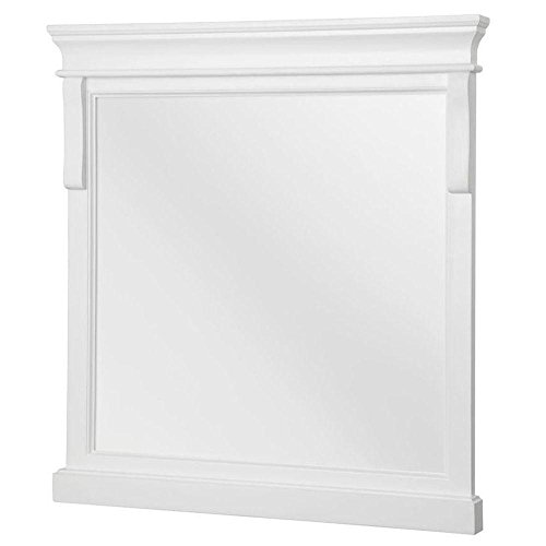 Foremost NAWM2432 Naples 24-Inch Width x 32-Inch Height Mirror, White ()