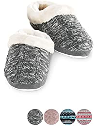 Slippers for Women - Womens Slippers, Fur-Trimmed Scuff