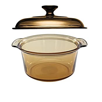 Image of Home and Kitchen Visions 5L Round Dutch Oven With Glass Lid / Cover