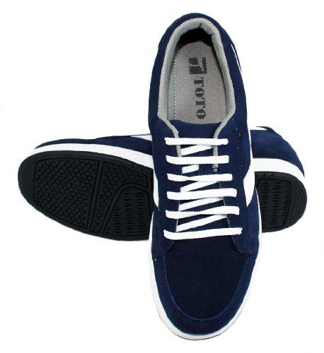 Toto-A1913-7,1cm Grande Taille-Hauteur Augmenter Ascenseur shoes-navy Bleu en daim Décontracté
