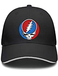 87e8fa468afe2 Mens Woman Adjustable Trucker Hat Grateful-Style-Dead-Symbol-Steal-