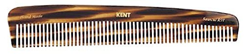 Kent R9T 7 1/2'' 192 mm Handmade Comb, Coarse Toothed Dressing Table Comb. Sawcut (R9T)