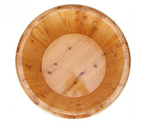 HINEW cedro pie ba/ño spa casa madera cuencos ollas de madera 0.21m alto