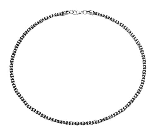 (Oxidized Sterling Silver 4-mm Popcorn Chain with Lobster Claw Clasp (16)