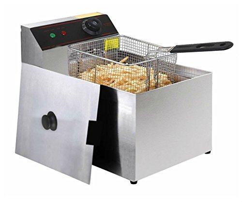2500W Deep Fryer Electric Commercial Tabletop Restaurant Frying w/ Basket Scoop from Storend