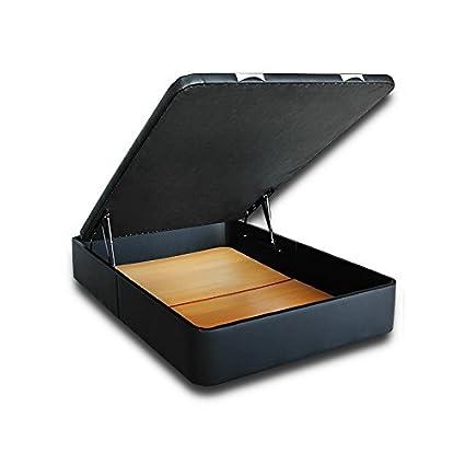 Ventadecolchones - Canapé Modelo Serena Gran Capacidad Apertura Lateral tapizado en Polipiel Lugo Plata y Medidas 100 x 190 cm: Amazon.es: Hogar