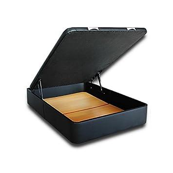 Ventadecolchones - Canapé Modelo Serena Gran Capacidad tapizado en Polipiel Negro Medidas 135 x 200 cm: Amazon.es: Juguetes y juegos