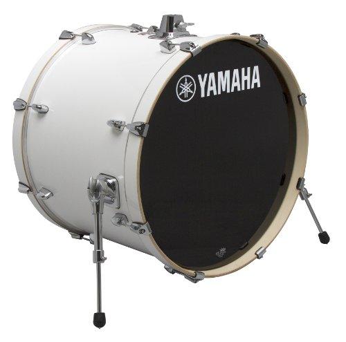 - Yamaha Stage Custom Birch 18x15 Bass Drum, Pure White