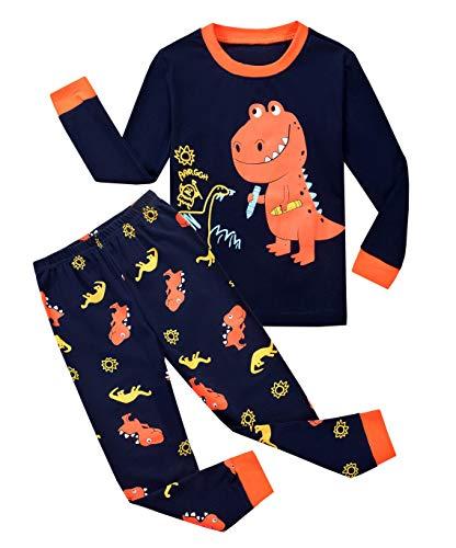 Qzrnly Toddler Pajamas Dinosaur Little Boys Clothes Truck Kids Pjs Sleepwear ()