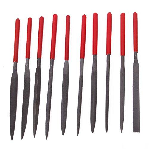 - TOOGOO 10 pcs 180 mm Professional Flat Triple-cornered Grinding Embossing Needle File Set Tools