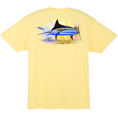 - Guy Harvey Golden Men's Short Sleeve Pocket T-shirt