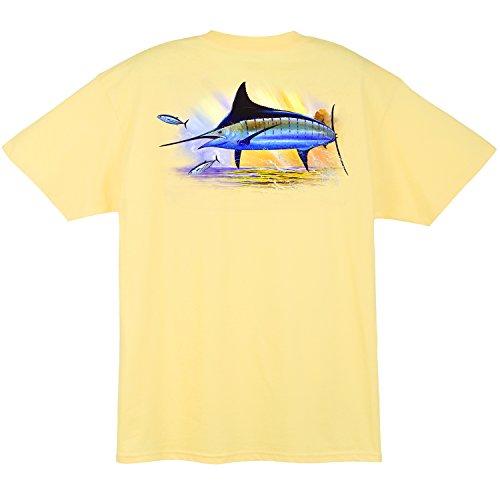 Guy Harvey Golden Men's Short Sleeve Pocket T-shirt