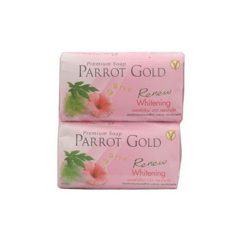 Parrot Soap Gold Pink 80 G, Packs of 4 From Thailand Made in Thailand by molona