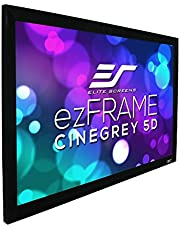 """Elite Screens 180"""" Diagonal 16:9, ezFrame CineGrey 5D Series, Ambient Light Rejecting Projection Screen, R180DHD5"""