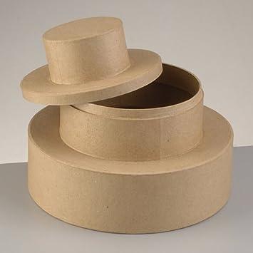 Efco Boite Gâteau De Mariage Urne En Carton Avec Couvercle Diamètre De Base 23 Cm Hauteur 18 Cm