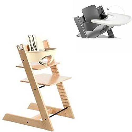 Stokke - Tripp Trapp - High Chair, Baby Set & Tray - Natural