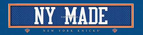 (Prints Charming Nameplate Slogan New York Knicks NY Made Unframed Poster 22x6 Inches)