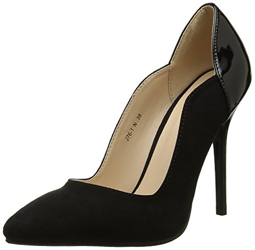 Angkorly - damen Schuhe Pumpe - Stiletto - Patent Stiletto high heel 11 CM Schwarz