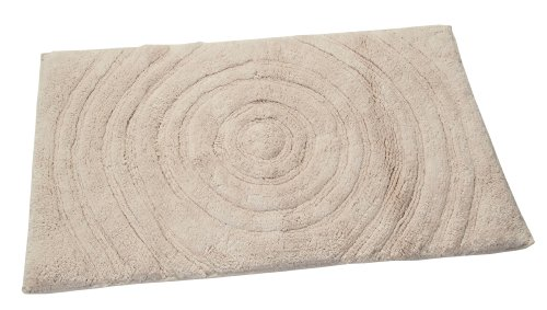 (Textile Décor Castle Hill Bath Mat with Spray Latex Backing, Echo Design, 17 by 24-Inch, Ivory)