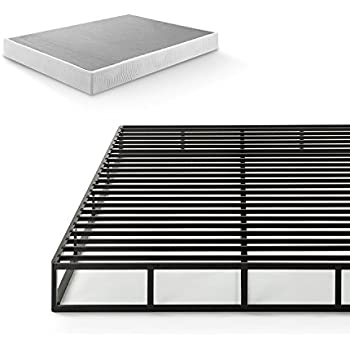 Zinus 7.5 Inch Quick Lock Smart Box Spring / Mattress Foundation / Strong Steel Structure / Easy Assembly, Queen