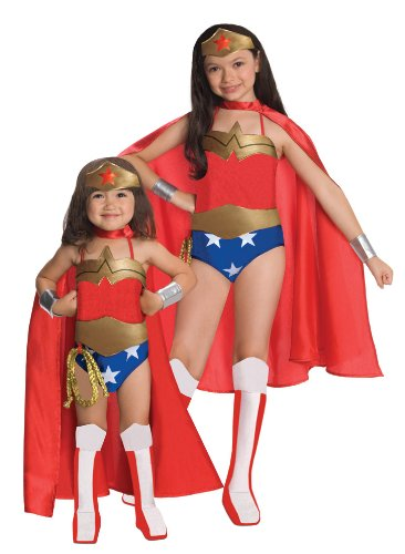 Rubies DC Super Heroes Collection Deluxe Wonder Woman Costume, Small (4-6) (Group Of 5 Halloween Costumes Ideas)